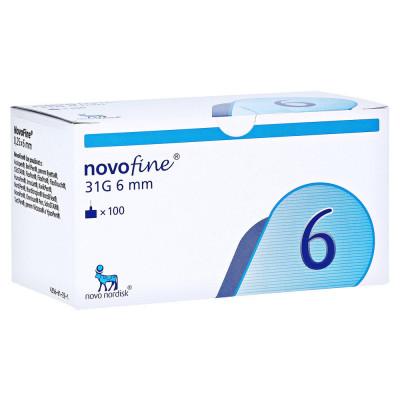 Иглы Новофайн (Novofine) 6 мм 31G