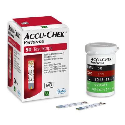 Тест-смужки Акку-Чек Перформа (Accu-Chek Performa), 50 шт.
